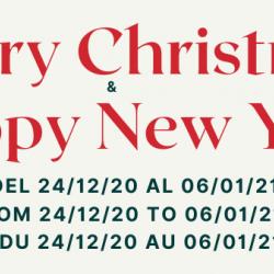 Vacaciones Navidad 2020 Feliz año 2021 FORNITURAS TÉCNICAS